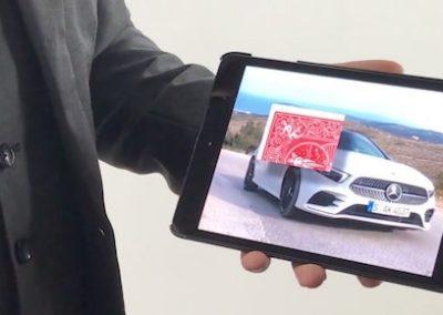 animation lancement de produit pour mercedes, nouvelle voiture